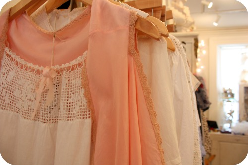 Vintage camisoles and cotton nightdresses