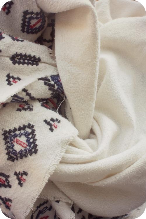 Zara heavy cotton scarf