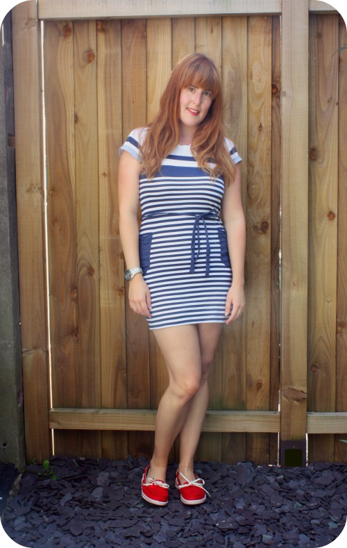 Nautical dress and deck shoes