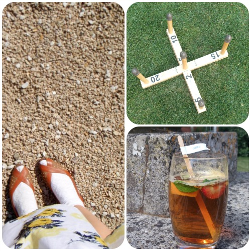 Wedding outfit, Pimms and lawn games