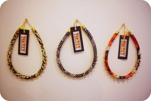 Asanda necklaces by Amanda Saunders