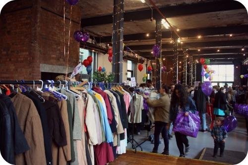 Bargain hunters at the Vintage Kilo Sale