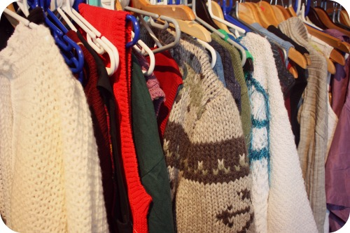 Vintage jumpers at the Vintage Kilo Sale