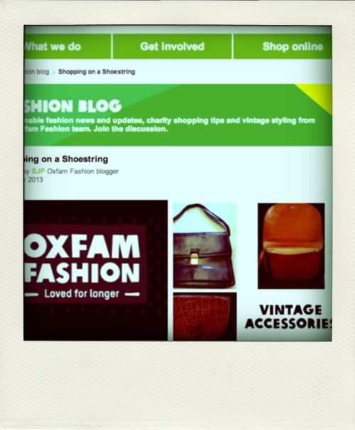 Rock The Week - Oxfam Fashion blog