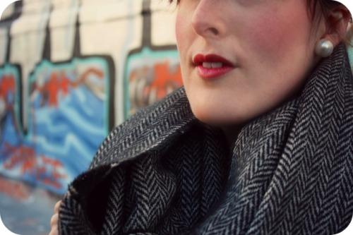 Zara herringbone scarf
