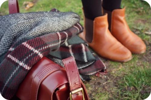 Zara tartan herringbone scarf