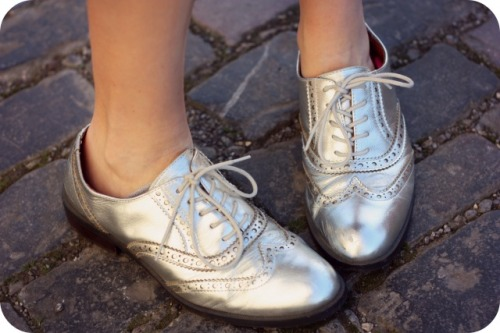 Silve brogues from Office