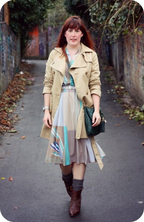 Vintage dress and HM mac