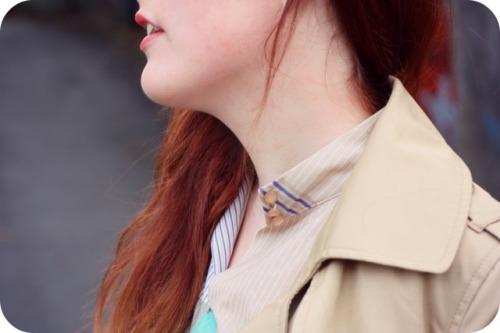 Vintage dress mac and red hair